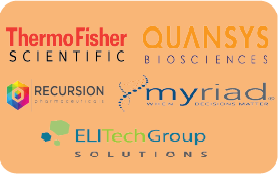 Thermo Fisher, Quansys Biosciences, Recursion Pharmasuticals, Myraid, EliTechGroup Solutions