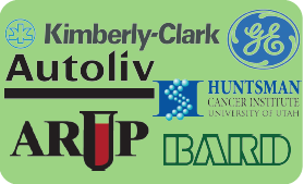 Kimberly-Clark, General electric, Huntsman Cancer Institute, ARUP, Bard, Autoliv