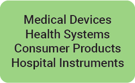 Medical devices, Health Systems, Consumer Products, Hospital Instruments