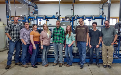 usu awwa chapter members in water treatment plant