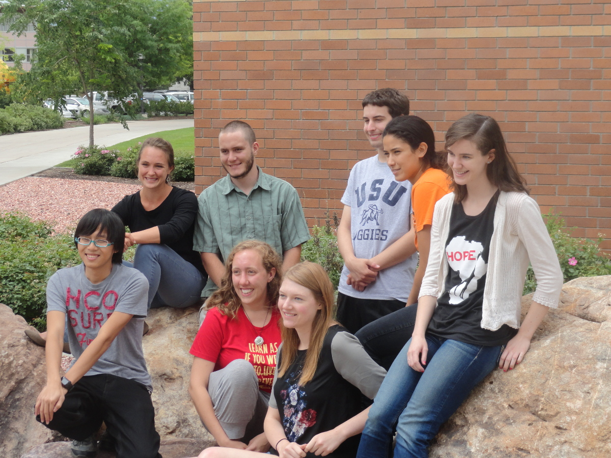 2014 REU Student group outside