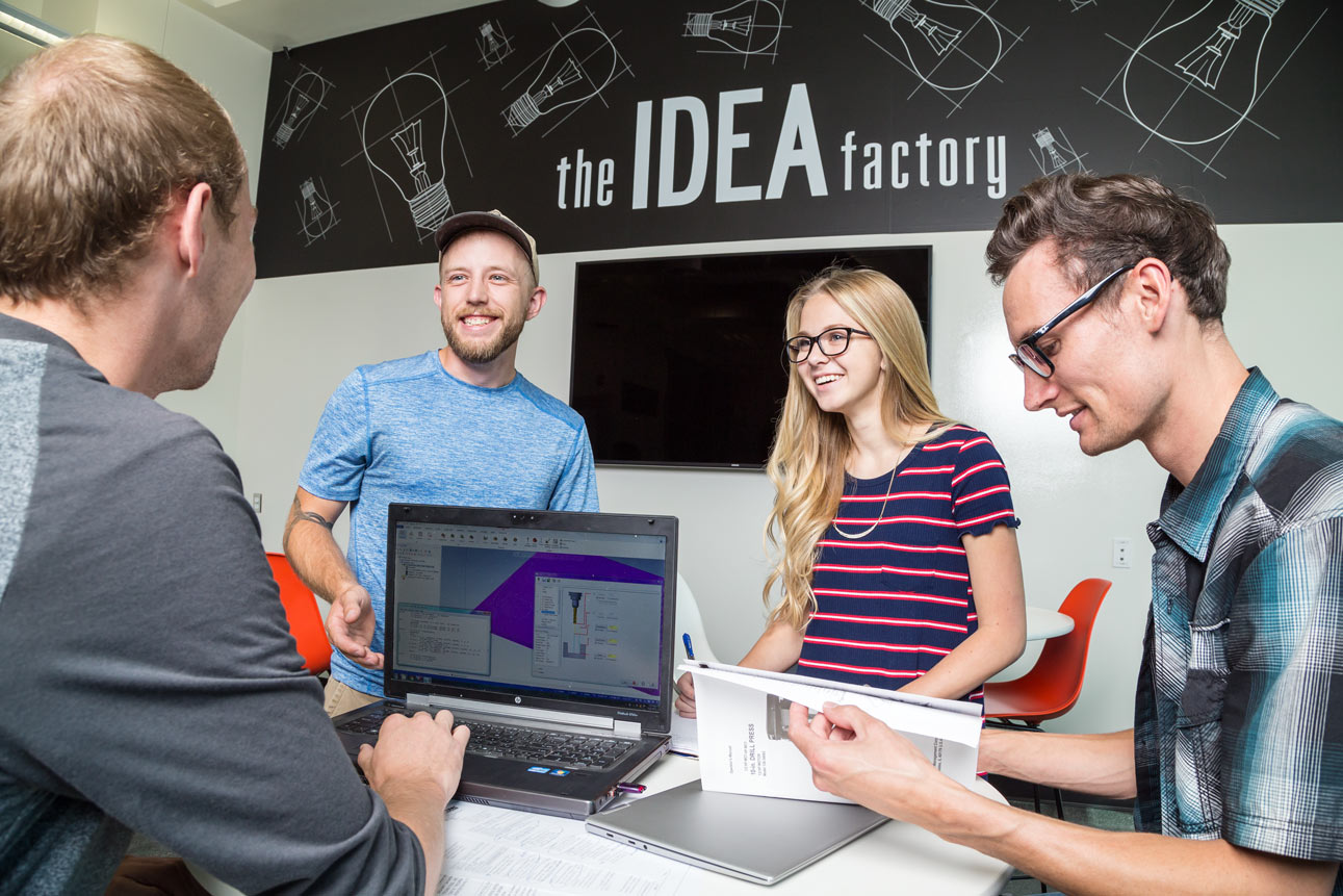 students in new Idea factory