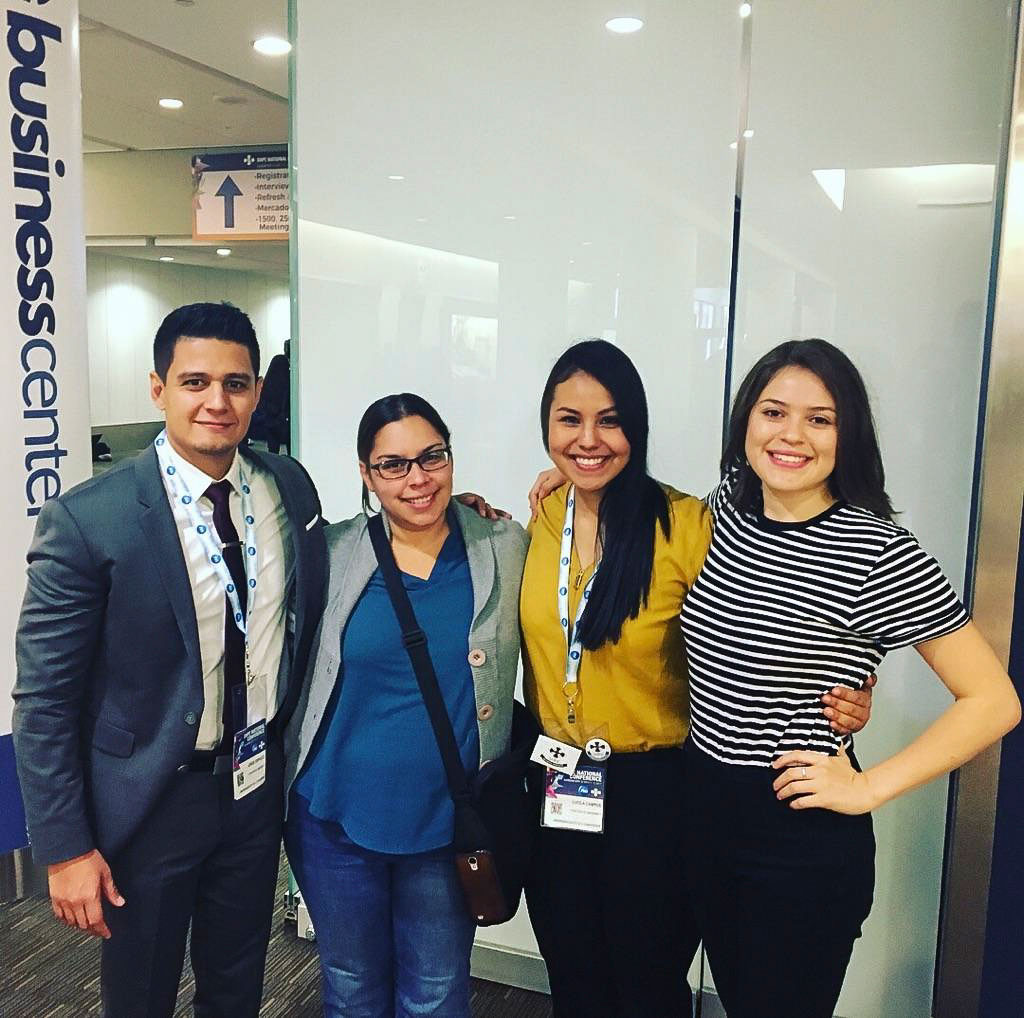 USU SHPE members at an annual conference