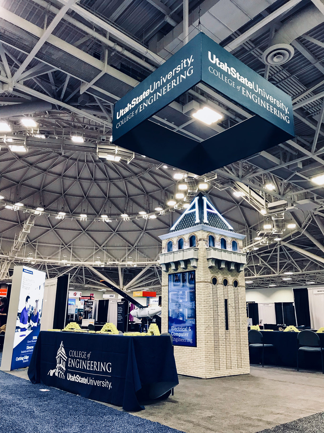 Tower display at the Society of Women Engineers 2018 convention
