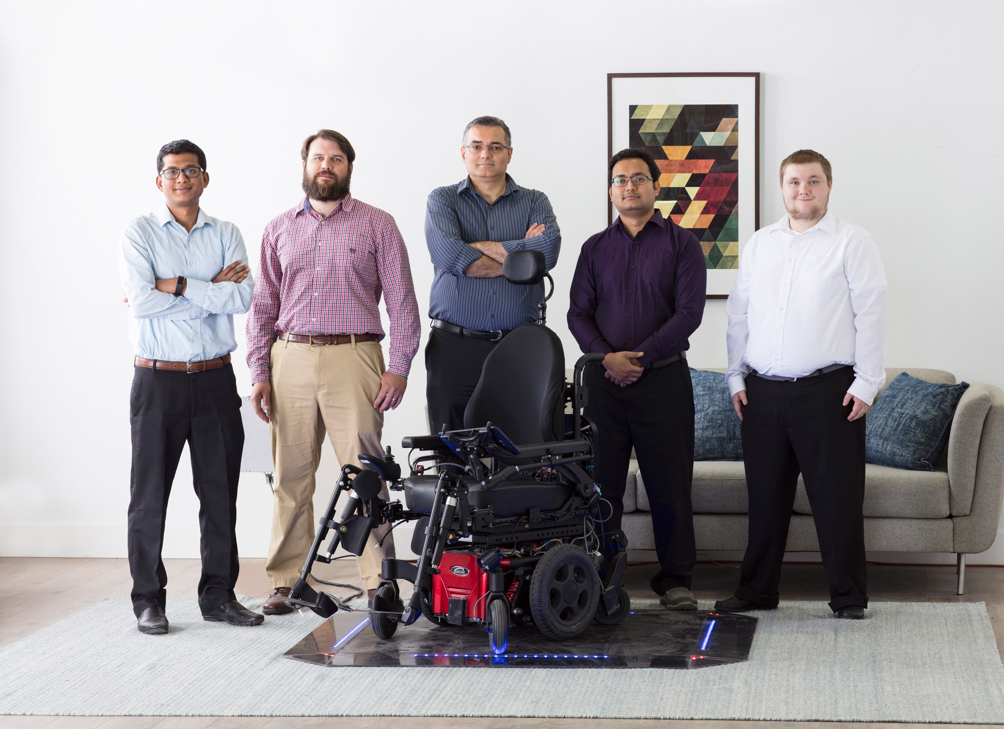 Wireless wheel chair research group