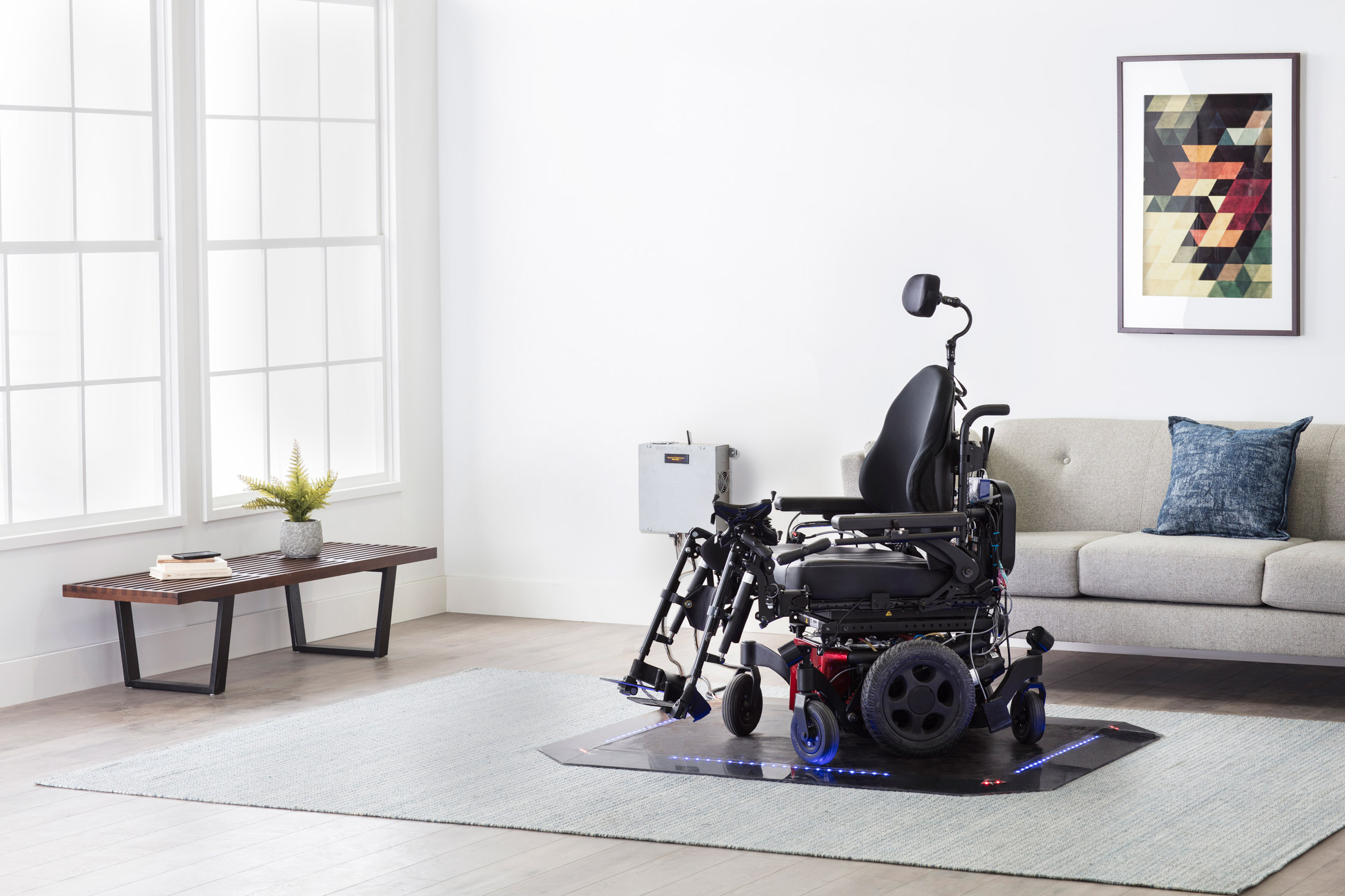 Electric Wheel chair charging on wireless pad