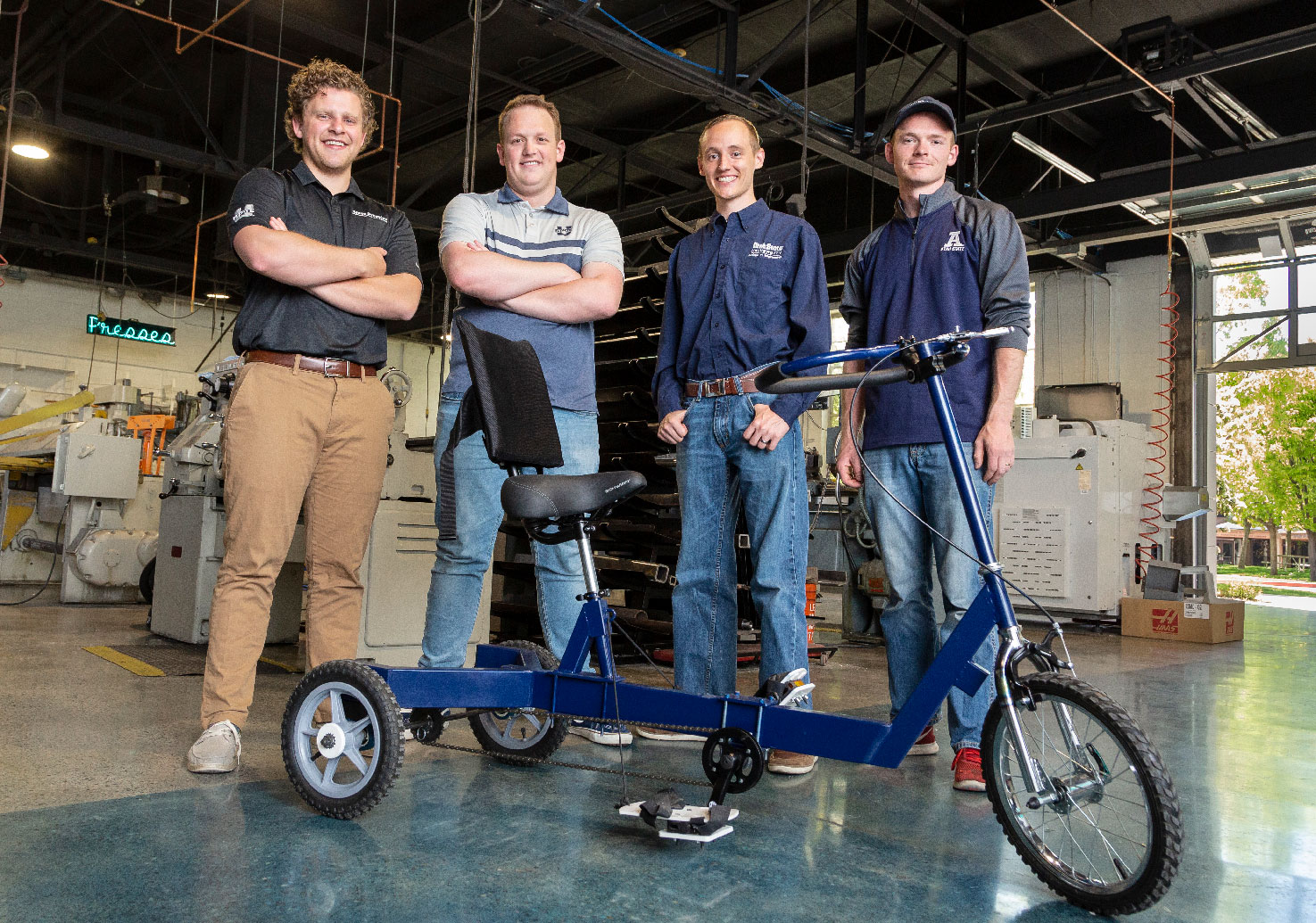 MAE Student group that created the low-cost therapy tricycle