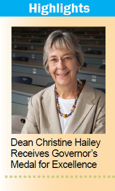 Dean Christine Hailey Recieves Governor's Medal for Excellence