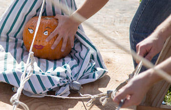 Annual Pumpkin Toss Combines Fall, Physics and Fun | College of Engineering