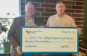 Rocky Mountain Power Foundation Donates $13K to USU Engineering | College of Engineering
