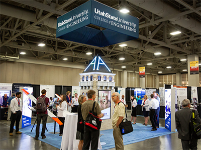 USU College of Engineering Lights up Salt Palace at Education Conference