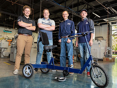 Mechanical Engineering Seniors Develop Low-Cost Therapy Tricycle | College of Engineering