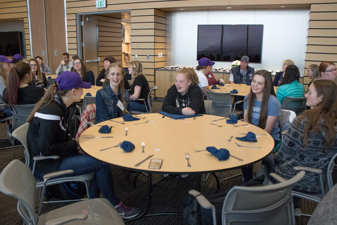 Group of females at table