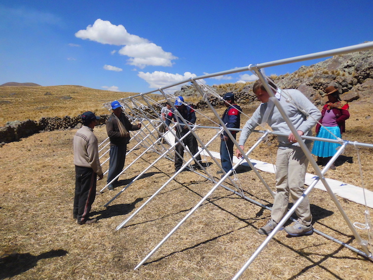 Construction of alpaca shelters